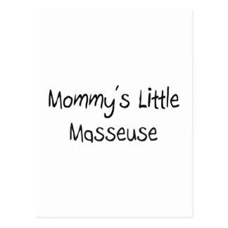 Pequeña masajista de Mommys Tarjeta Postal
