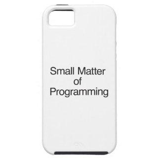 Pequeña materia de la programación iPhone 5 cobertura