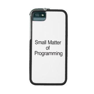 Pequeña materia de la programación