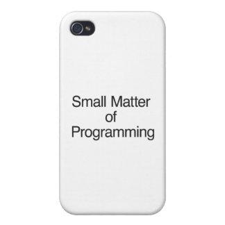 Pequeña materia de la programación iPhone 4 protector