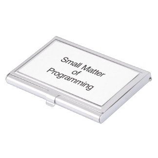 Pequeña materia de Programming.ai Cajas De Tarjetas De Visita