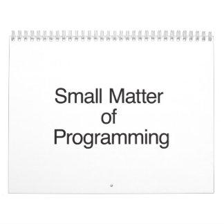 Pequeña materia de Programming.ai Calendarios De Pared