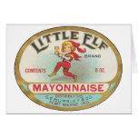 Pequeña mayonesa del duende - etiqueta del vintage tarjeta