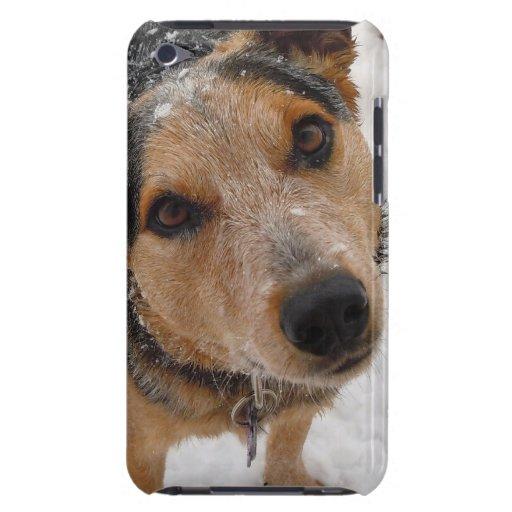 Pequeña nieve bonita linda del perro del ganado oc barely there iPod cárcasa