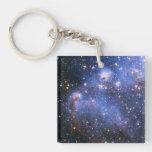 Pequeña nube de Magellanic Llavero Cuadrado Acrílico A Doble Cara