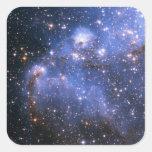 Pequeña nube de Magellanic Pegatina Cuadradas Personalizadas
