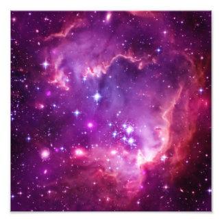 Pequeña nube de Magellanic teñida púrpura Arte Fotográfico