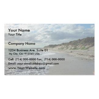 Pequeña onda que espumejea en la playa de Wanneroo Plantilla De Tarjeta Personal