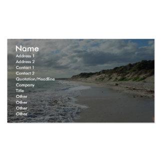 Pequeña onda que espumejea en la playa de Wanneroo Tarjetas De Visita
