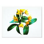 Pequeña orquídea amarilla invitación 10,8 x 13,9 cm