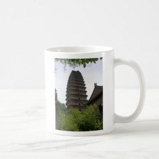 Pequeña pagoda salvaje del ganso tazas de café