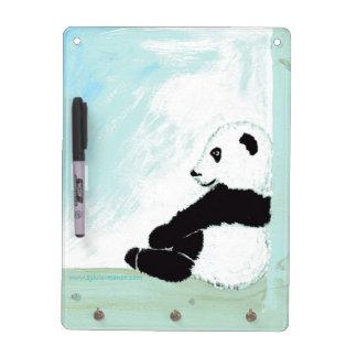 Pequeña panda: Cuadro borrable y lleva clave - Tableros Blancos