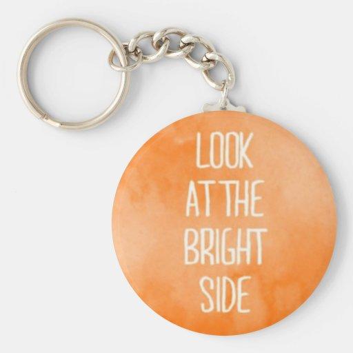 Pequeña parte positiva anaranjada bonita llaveros personalizados