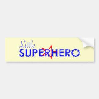 Pequeña pegatina para el parachoques del super hér pegatina para auto