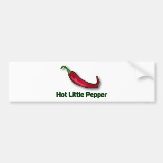 Pequeña pimienta caliente etiqueta de parachoque