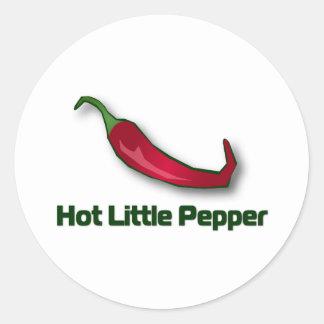 Pequeña pimienta caliente pegatina redonda