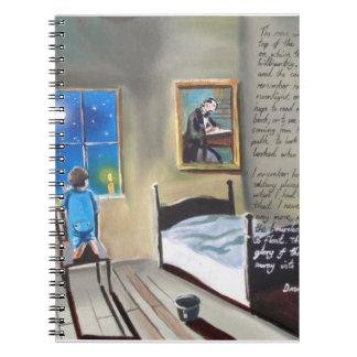 Pequeña pintura de David Copperfield Dickens Note Book