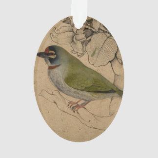 Pequeña pintura del pájaro del vintage