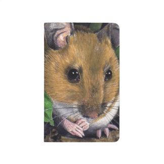 Pequeña pintura del ratón de madera cuaderno
