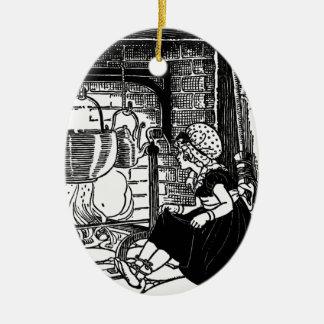 Pequeña poesía infantil del Flinders de Polly Adorno Ovalado De Cerámica