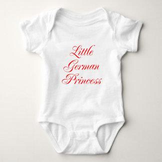 Pequeña princesa alemana mameluco de bebé
