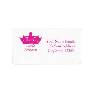 Pequeña princesa - bebé real etiquetas de dirección