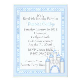 """Pequeña princesa Castle Invitación 5.5"""" X 7.5"""""""