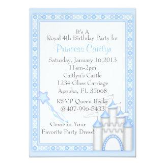 """Pequeña princesa Castle Invitación 5"""" X 7"""""""
