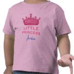 Pequeña princesa con la corona rosada V16 Camisetas