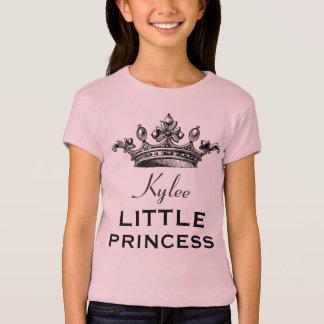 Pequeña princesa con rosa de la corona V07E1 del Playera