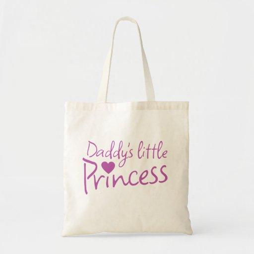Pequeña princesa de Daddys Bolsa Lienzo