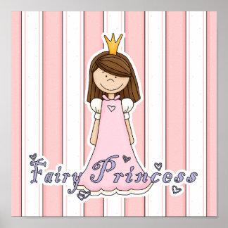 Pequeña princesa de hadas bonita linda posters