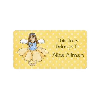 Pequeña princesa de hadas Bookplate Label Etiqueta De Dirección
