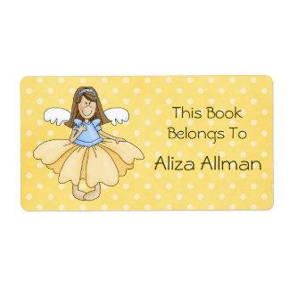 Pequeña princesa de hadas Bookplate Label Etiqueta De Envío