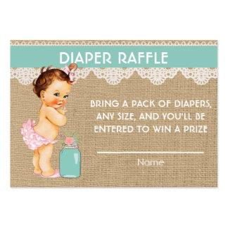 Pequeña princesa Diaper Raffle Insert Tarjetas De Visita Grandes