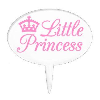 Pequeña princesa, diseño con la corona rosada para figuras de tarta