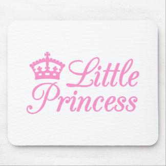 Pequeña princesa, diseño con la corona rosada para alfombrillas de ratón