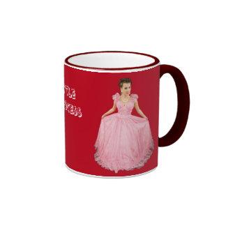 Pequeña princesa en la rojo-Taza Taza De Dos Colores