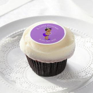 Pequeña princesa étnica púrpura fiesta de láminas de azúcar para galletas