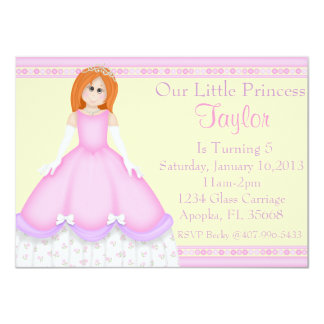 "Pequeña princesa invitación 4.5"" x 6.25"""