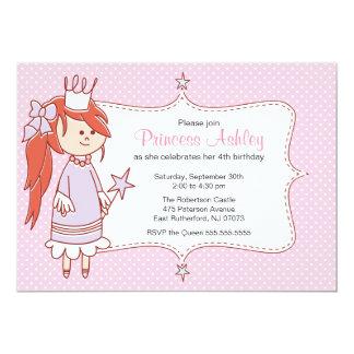 Pequeña princesa Invitation - rosa Invitación 12,7 X 17,8 Cm