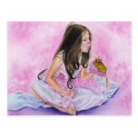 Pequeña princesa Kissing Frog Postcard Tarjeta Postal