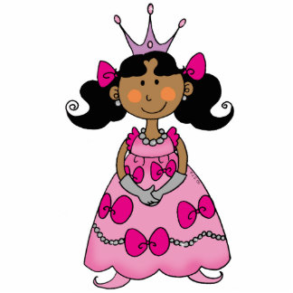Pequeña princesa linda (pelo negro) fotoescultura vertical
