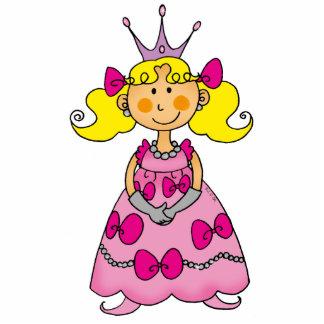 Pequeña princesa linda (pelo rubio) fotoescultura vertical