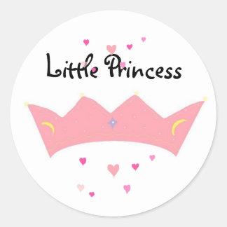 Pequeña princesa - pegatinas pegatina redonda