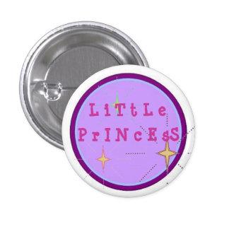 Pequeña princesa pin redondo de 1 pulgada