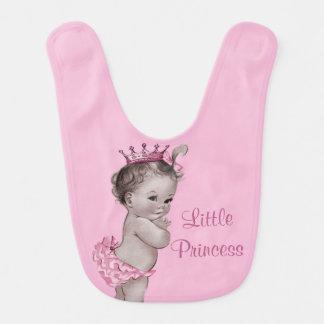 Pequeña princesa rosa bebé del vintage lindo baberos para bebé