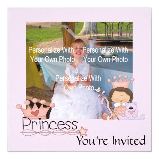 """Pequeña princesa rosada Invitations Invitación 5.25"""" X 5.25"""""""