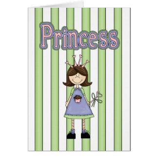 Pequeña princesa tarjeta de felicitación