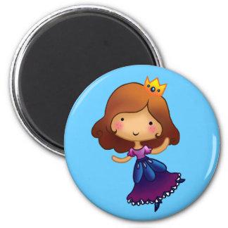 Pequeña princesa triguena imán redondo 5 cm